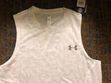 NWT MEN'S Sz S Under Armour White Camouflage Pattern Tank Top #1293951 $25
