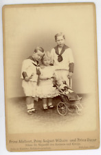 Prinz Adalbert, Prinz August-Wilhelm & Prinz Oscar von Preussen Vintage silver p