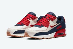 Men's Nike Air Max 90 Premium 'Home And Away' Shoe Size 11 Sail Red CJ0611-101
