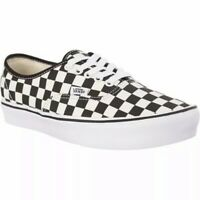 Vans authentic checker black ivory sneaker shoes men size 12  new