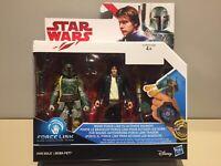 Star Wars Boba Fett Mandalorian Han Solo Twin Pack Hasbro 2016