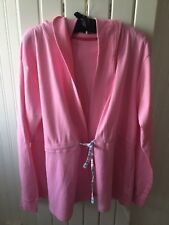 Ladies Maternity Size 18 - Pink Cotton Tie Front Lounge Cardigan/Jacket BNWT