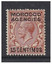 Morocco Agencies - 1925/31, 15c on 1 1/2d (Block Cypher) - G/U - SG 145 (a)