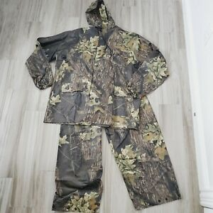 Cedar Key Mossy Oak Break Up 2 pc Rainsuit Mens XLarge New Camo Camouflage