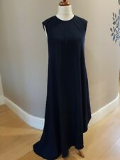 TED BAKER Dark Blue Asymmetric Maxi Dress Ted Size 1 UK Size 8 New with tags