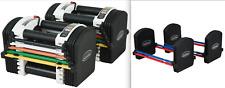 PowerBlock PRO EXP U-70 Adjustable Dumbbells Pair 5-70lbs w/ Stage 1 & 2 Kits