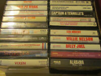 LOT! Vintage ROCK / COUNTRY 80's Cassette Tapes  ABBA / BOSTON / Cougar / NUGENT