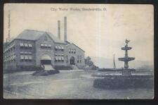 1906 POSTCARD STEUBENVILLE OH/OHIO CITY WATER WORKS PLANT & FOUNTAIN VIEW