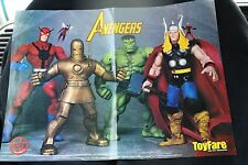 """Toy Biz Toy Fare Avengers Poster 15"""" x 12"""" from 1999"""
