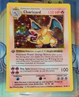 1st Edition Shadowless Charizard 4/102 Base Set Rare Pokemon Card REPLICA