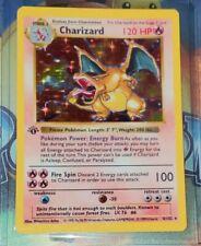1st Edition Shadowless Charizard 4/102 Base Set Rare *REPLICA* HAND-MADE ARTWORK