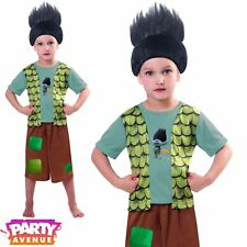 Niño Trolls rama Troll Vestido de fantasía Traje de Disfraz Peluca Niños Chicos 5-6 años