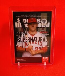 Mike Trout Sports Illustrated Topps Online Exclusive Card Supernatural Angels