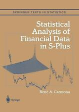 Springer Texts in Statistics: Statistical Analysis of Financial Data in...