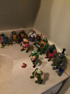 Vintage 1980s 1990s Playmates TMNT Ninja Turtles Action Figure & Accessories Lot