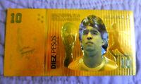 "★★★ MARADONA / ARGENTINE : BILLET POLYMER  "" OR "" 10 PESOS ★★★"