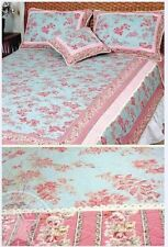 French Country Vintage Inspired Patchwork Bed Quilt Fuschia King RRP $250 New