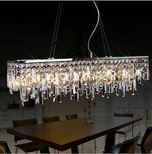 Luxury Modern 80cm Rectangle LED Crystal Dining Room Chandelier Lamp