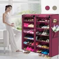 Shoe Rack Shelf Storage Closet Organizer Cabinet Lightweight 6 Layer 12 Grid USA