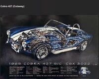 1965 Cobra 427 S/C  Cutaway/Kimble + Cobra 427/289 Now&Forever 2 Set Car Poster