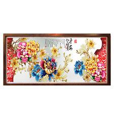 90*40cm 5D Diamond Embroidery Painting DIY Peony Flower Cross Stitch Home 2018