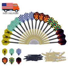 18 Pcs (6 Sets) of Darts Steel Tip Slim Barrel Needle Nice Darts Flights USA