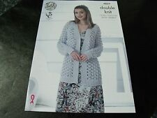 King Cole Double Knit Sweater and Cardigan Pattern 4837