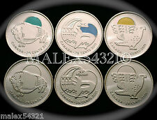 *** 2011 (2012) LEGENDARY NATURE 25 CENTS SET UNC ***