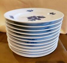 BLUE FLOWERS BRAIDED Royal Copenhagen Salad Plate 8.25 Denmark each