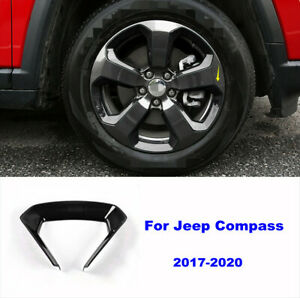 Fit For Jeep Compass 2017-2020 Black Auto Wheel Round Decorator Frame Cover Trim