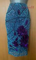 UK 10 KAREN MILLEN Art Deco Beaded Sequin 20's Charleston Cocktail Party Skirt