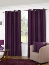 Aubergine Manhattan Purple Ready Made Unlined Eyelet Ring Top Curtains Plum