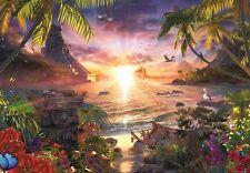 Jigsaw puzzle Maritime Seascape Paradise Sunset ENORMOUS 18,000 piece NEW