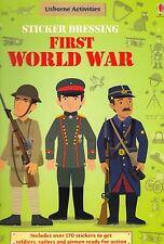 Usborne Sticker Dressing First World War by Struan Reid NEW BOOK ( P/B 2012)