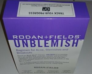 Rodan + Fields Unblemish Regimen for Acne and Post-Acne Marks 4 steps Brand New!