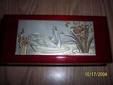 Vintage Music Box My Melody of Love  Japan Westland Co With Swans