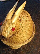 decorative Wicker Rabbit Basket Paul Marshall? collectible basket bunny basket