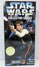 """STAR WARS COLLECTOR SERIES HAN SOLO 12"""" FIGURE 1996 HASBRO KENNER BOXED SEALED"""