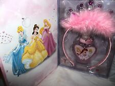 DISNEY PRINCESS JEWELLED PERFUME SET-PERFUME,TIARA,DIAMOND TATTOOS & STORAGE BOX