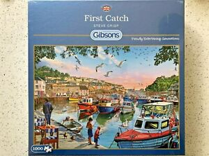 """Gibsons BRAND NEW 1000 pc Jigsaw Puzzle - """"First Catch"""" by Steve Crisp"""