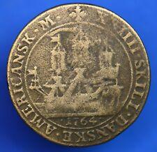 More details for brass 24 (xxiiii) skilling 1764 danish west indies frederik v *[19913]