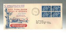 1959 Australia to New York Royal Flying Doctor Service Illustrated Signed Cover