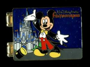 WDW Spotlight Autograph Book Mickey Mouse LE Disney Pin 65727