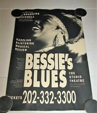 "1995 Bessie Smith tribute ""Bessie's Blues"" Studio Theatre DC Rare Promo Poster"