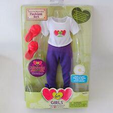 Hearts For Hearts Girls Doll Rahel Tee Shirt Purple Leggings Playset Fashion