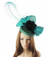 Jade Black Fascinator Hat for Weddings/Ascot/Proms With Headband SALE