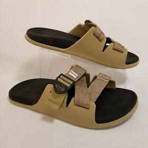 Chaco x Fat Tire Chillos Slide Slip-on Shoes Sandals Men's Size 9 M Tan & Black