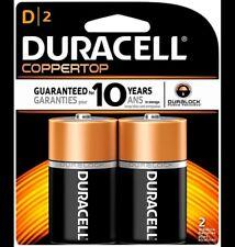Duracell Coppertop D Alkaline Batteries 2 Each
