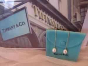 Tiffany & Co.Peretti 18K Cultured Pearl Dangle Drop 9.5mm-10mm Earrings