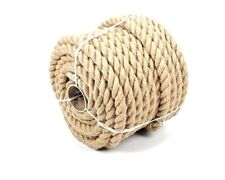14mm 100% Natural Pure Jute Rope 3 Strand Braided Twisted Cord Twine Sash New